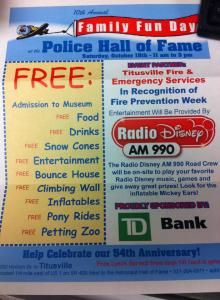 police hall of fame family fun day